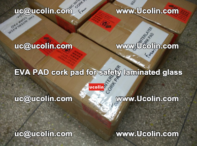 EVA PAD cork pad for safety glazing glass separation (67)