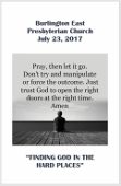 2017-07-23 – Finding God in hard places