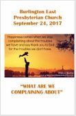 2017-09-24 What are we complaining about