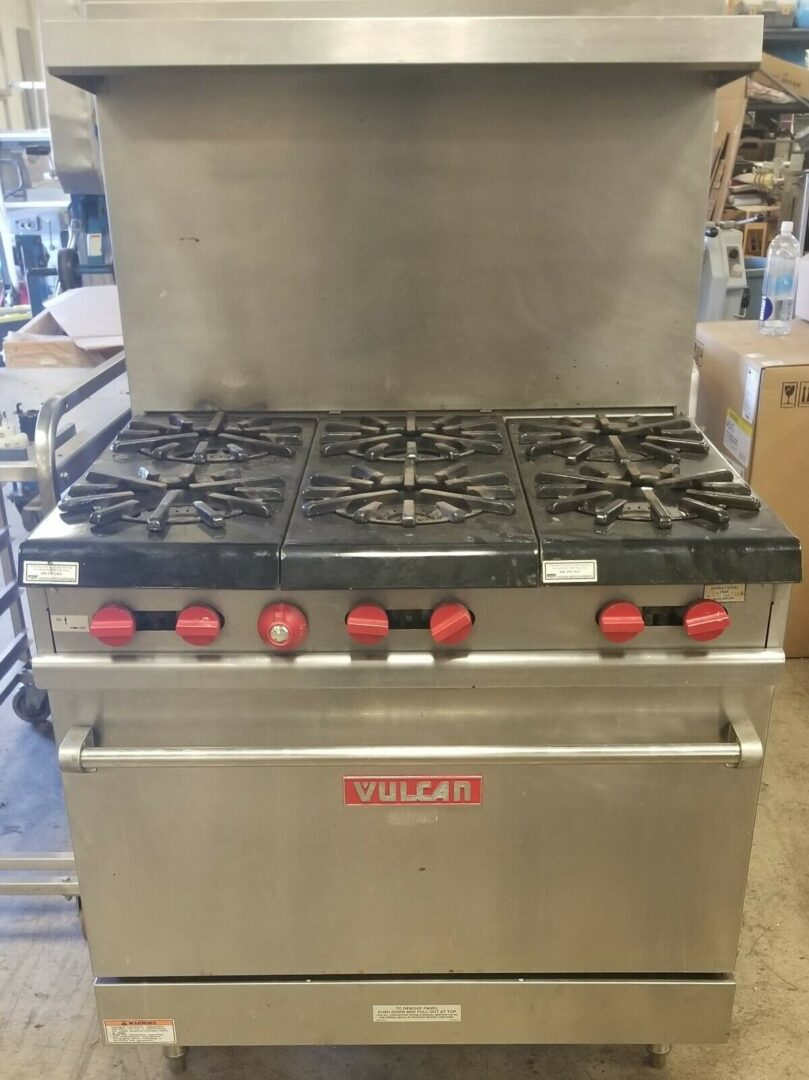 13. Used Vulcan Stainless Steel 36 Professional Gas Range
