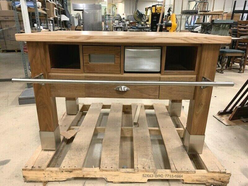 3. Kitchen Prep Table Walnut Maple butcher block $599