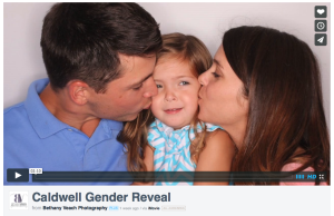 Photo Booth Gender Reveal