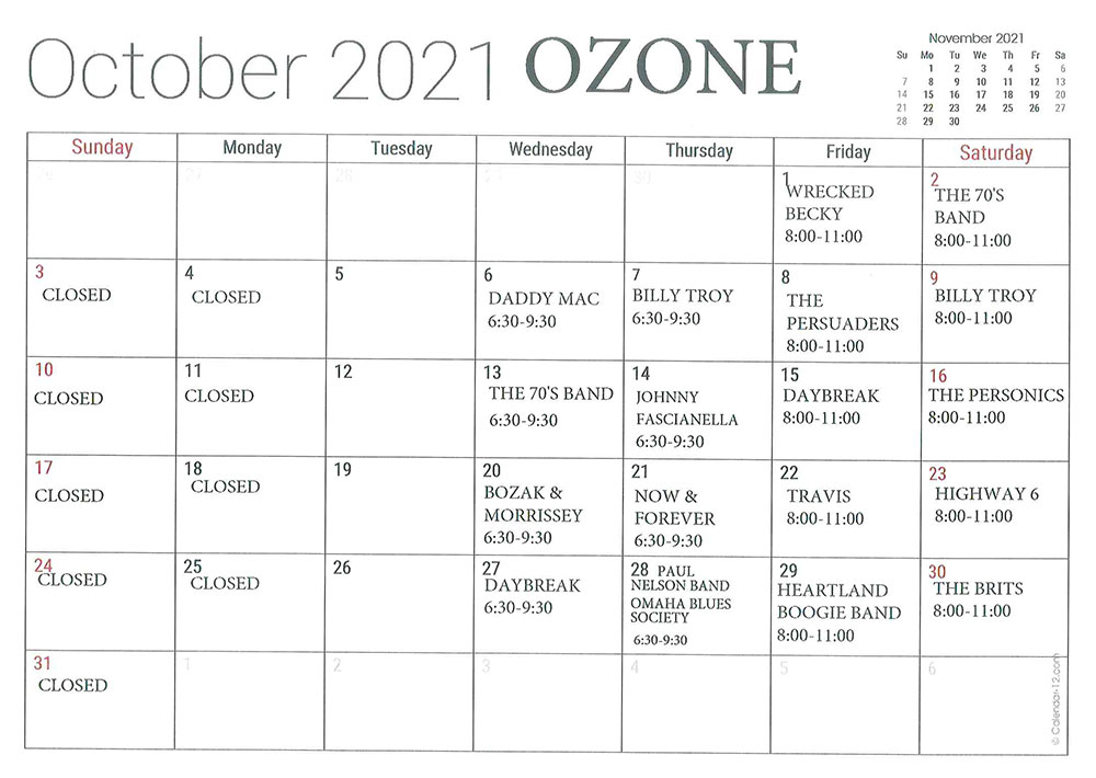 OCTOBER-OZONE
