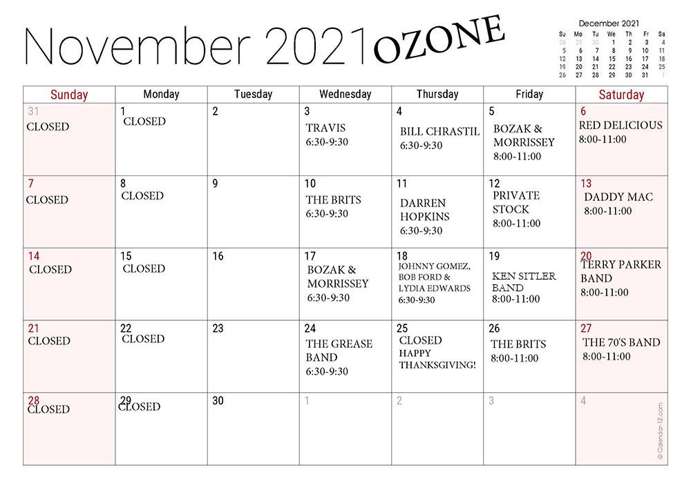 NOVEMBER-OZONE