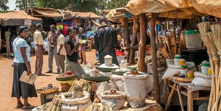 A Market in Livingstone City, Zambia.