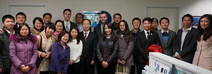 GFI's Joe Spanjers and Josh Simmons with representatives of the Jiangxi Province Local Taxation Bureau.