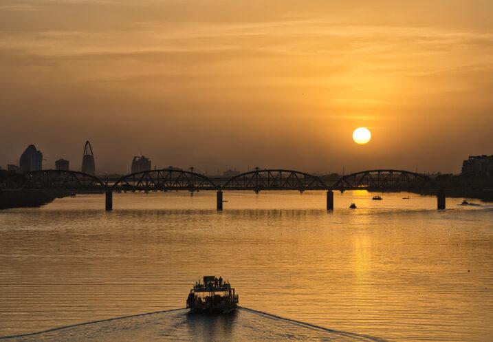 Sunset on the Nile, Sudan via Shuttershock