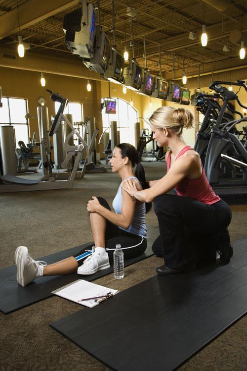 woman personal training gym membership