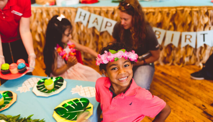 Deluxe Moana-themed party at Tiny Town