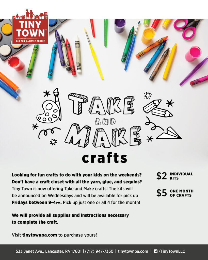 Take and Make Crafts flyer