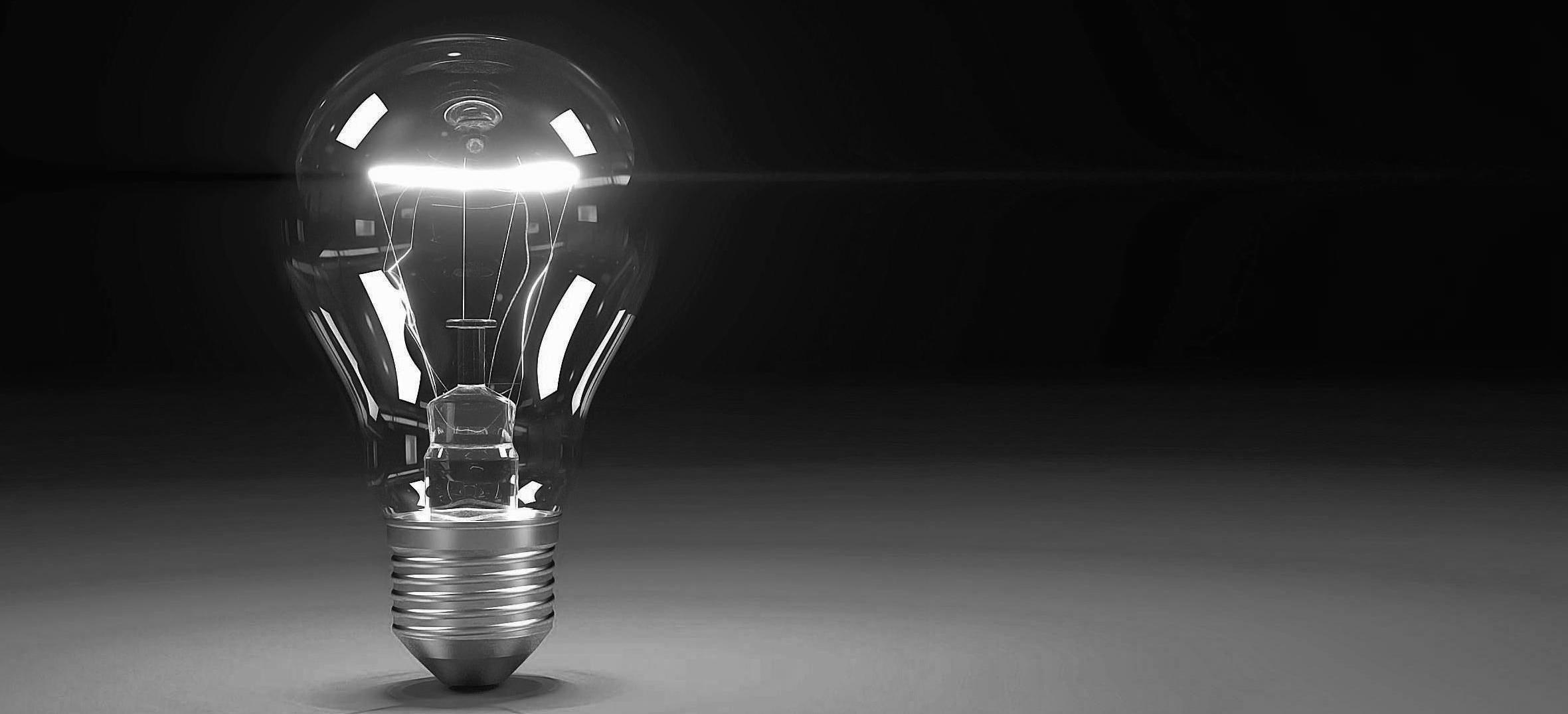 Lightbulb new ideas concepts trends