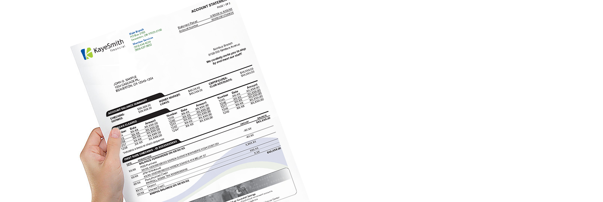 Kaye-Smith Statement Processing and Billing Services Document