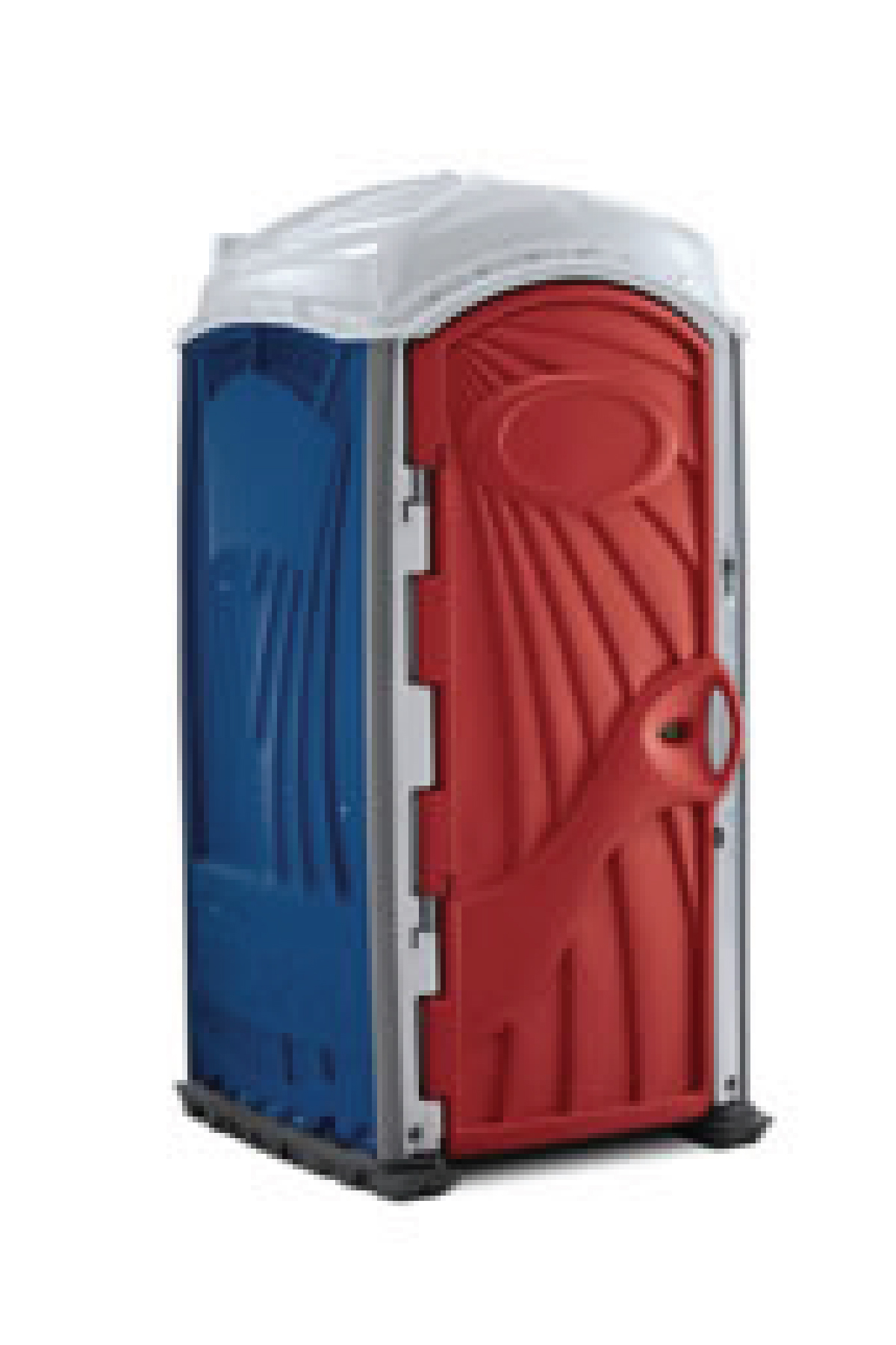 Red White and Blue Portable Restroom