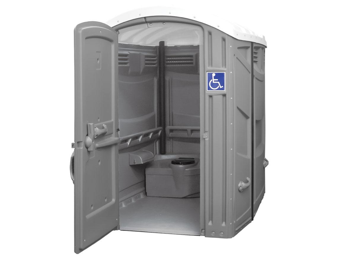 handicap wheelchair accessible portable toilet