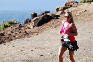 Trish Davidson on the home stretch