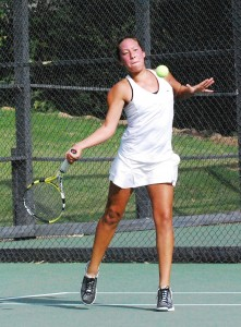 Santa Barbara's Ariana Hudson and sister Thalia had a strong tournament but fell to Haley Hranicky-Galitzer and Aurora Garrison in the doubles championship match.