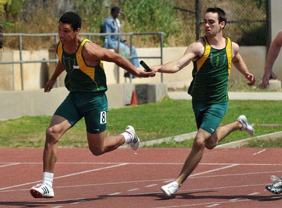 Santa Barbara High Track & Field relay