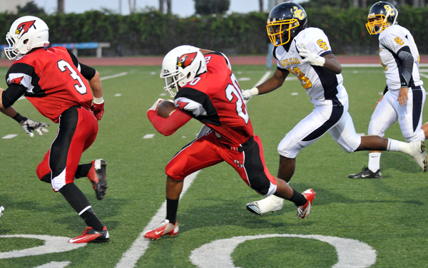 Bishop Diego running back Abel Gonzalez rushed for 142 yards and two touchdowns in a 34-0 win over North Torrance