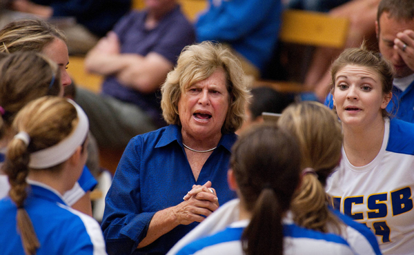 Kathy Gregory is the only Women's Head Volleyball Coach UCSB has ever seen