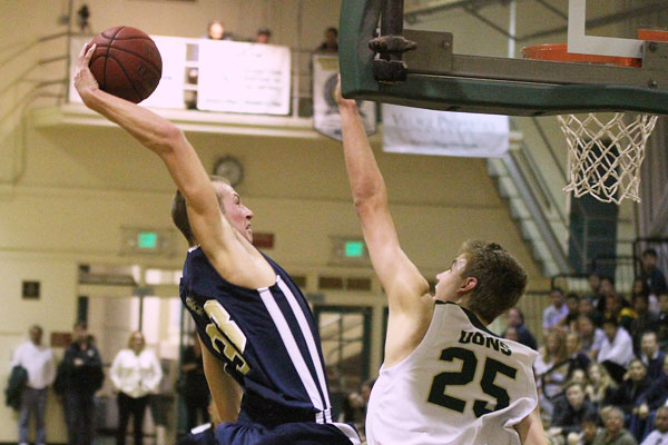 Zachary Shugart dunks against Santa Barbara High