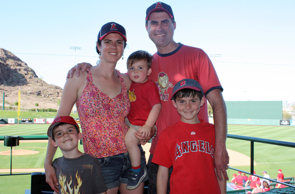 Dan and his family at spring training in Arizona