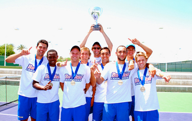 UCSB's men's tennis team won it first Big West Tournament since 2009 on Sunday. (Big West Conference Photo)