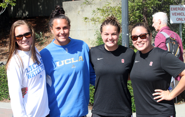 Former Channel League water polo players (l to r) Kodi Hill, Sami Hill, Kiley Neushul, Alexis Lee.