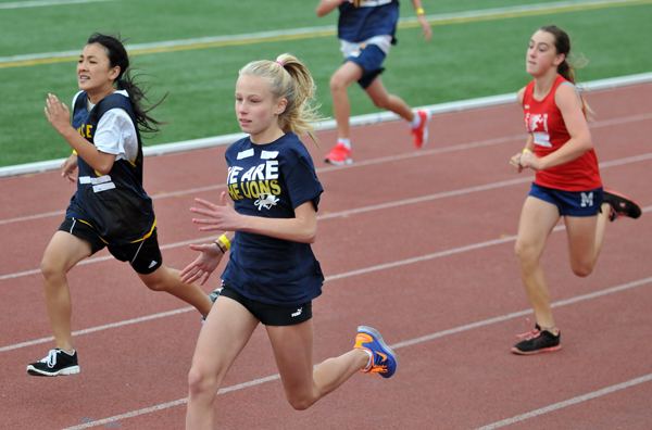 Seventh and eighth grade girls compete at SBCC's La Playa Stadium
