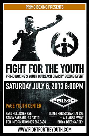 Event Poster for 'Fight for the Youth'