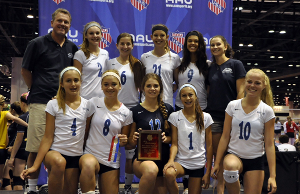 Santa Barbara Volleyball Club's 14-Blue in Orlando this week.