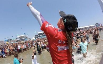 Professional surfer Lakey Peterson
