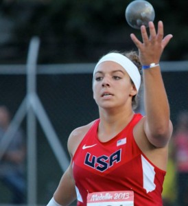 Stamatia Scarvelis won state, national and international titles in the shot put.
