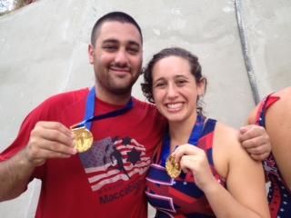 Connor Levoff, left, and Hannah Koper