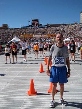 Curtis after running the Bolder Boulder 10k in 2010.