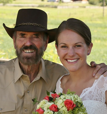 Curtis saw his daughter Natalie married this summer. (Ronald Mathews Photo)