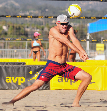 Jake Gibb and Casey Patterson advanced to the semifinals of the AVP Santa Barbara Open.