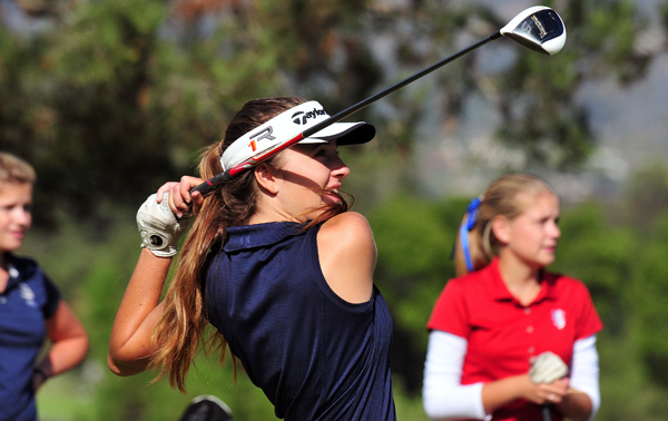 Megan Caird of Dos Pueblos earned medalist honors with a 44 in the Chargers' win over San Marcos. (Presidio Sports photo)