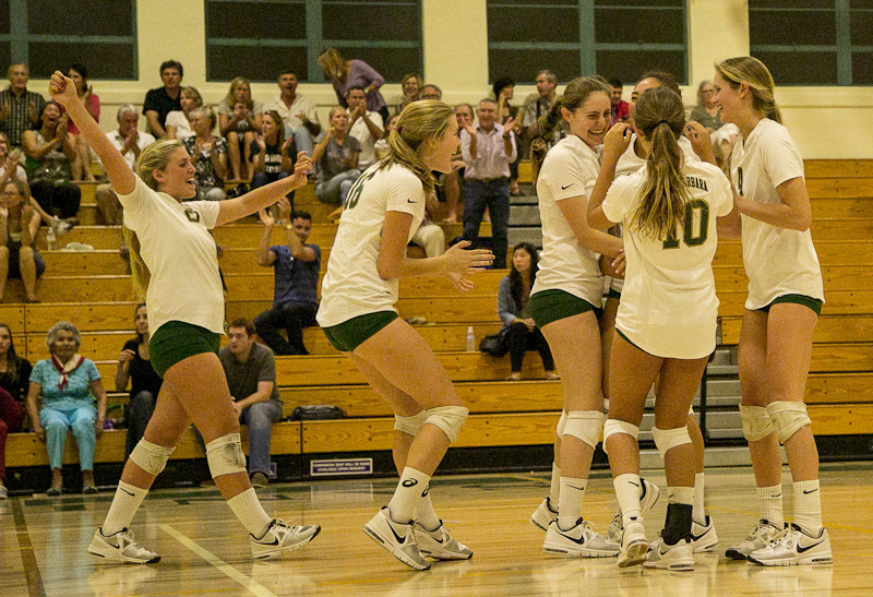 Santa Barbara High's girls volleyball team won its first-round match on Tuesday over Palos Verdes.