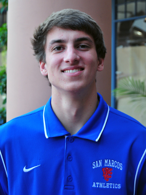 San Marcos basketball player Bryce Ridenour was named the Athlete of the Week.