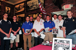 Members of the defensive unit of the Presidio Sports All-City Football Team. The offensive unit is on the cover page.