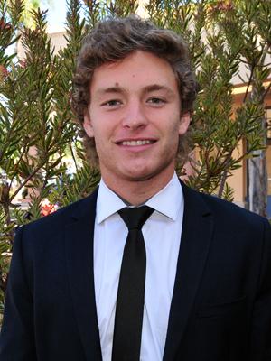 John Bertram is captain of  the Westmont men's tennis team.