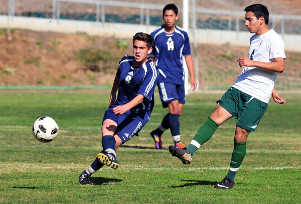 San Marcos' Neema Nabidavoodi scored his first goal of the season on Saturday, which became the game-winner in the boys junior varsity game.