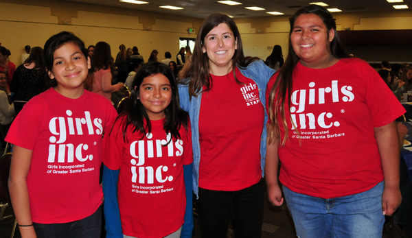 Members of Girls Inc. attending Monday's SBART Women and Girls in Sports Luncheon at Earl Warren Showgrounds.