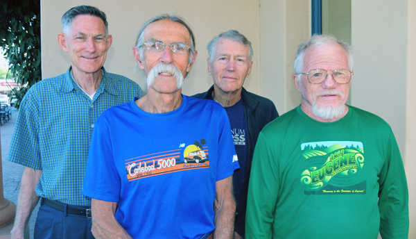 Members of the Santa Barbara Athletic Association team that won the USA Cross Country Mastes Over-70 division national title.