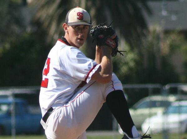Tyler Gilbert pitched a perfect five innings, and SBCC won its 10th straight.