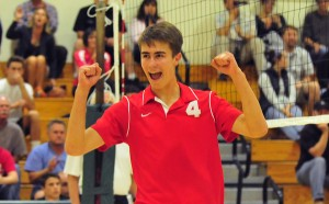 Jake Castanha recorded a huge block in the fourth set for San Marcos.