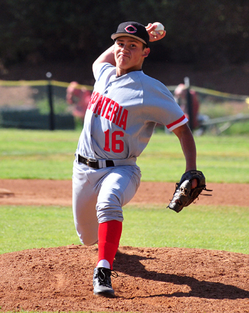 Freshman Sal Delgado started on the mound for the Warriors.