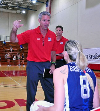Karch Kiraly coaches up Lauren Gibbemeyer