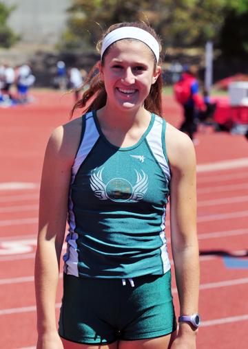 Just a sophomore, Natasha Feshbach broke two Santa Barbara High school records on Saturday.