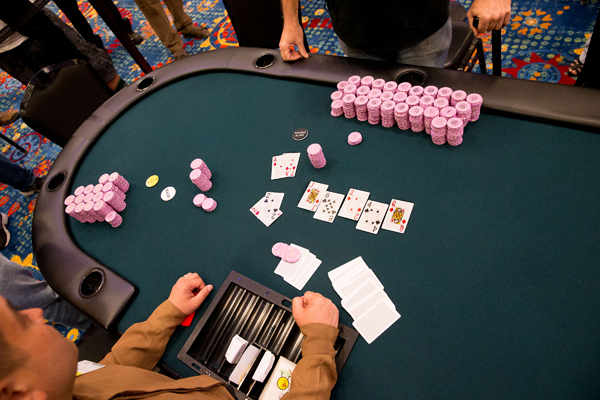 The winning hand at the 2014 Central Coast Poker Championship.